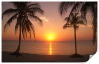 Cuban Sunset, Print