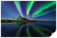 Northern lights in Lofoten, Print
