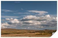 Big sky over Dartmoor, Print