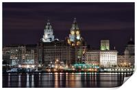 Liverpool Skyline at Night, Print