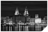 Liverpool Skyline at Night, Print