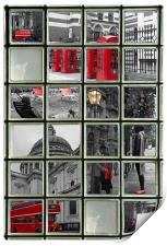 Window on London Sights, Print