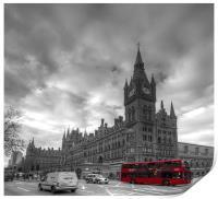 St Pancras Station BW, Print