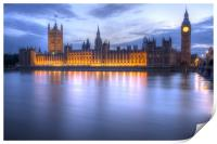 Big Ben and the houses of Parliament, Print