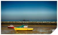 Herne Bay old pier Kent , Print