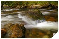 flowing river, Print