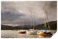 Boats at Windermere, Print