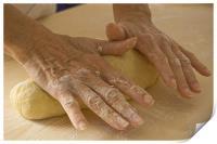 Handmade bread , Print