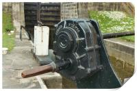 Detail of a canal lock paddle, Print