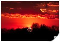 Norfolk Sunset - 1, Print