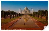 The Taj Mahal at Sunset, Print