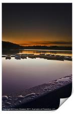Dawn Droplets and Boats, Print