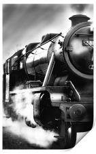 Black and White Train, Print