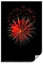 4th of July fireworks., Print