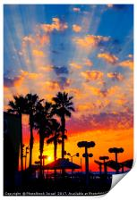 Mediterranean sun set, Print
