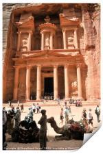 Jordan, Petra the Treasury , Print