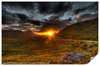 Sunset in the Highlands, Print