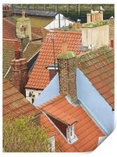 Rooftops of Whitby, Print