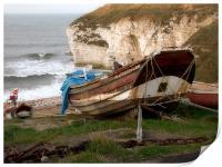 Boats at Thornwick Bay, Print