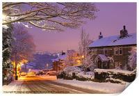 Night snow, Print