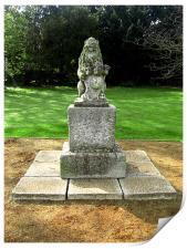 Lion Statue, Print