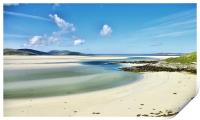 Luskentyre Beach Isle of Harris Scotland, Print