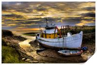 south ferriby boat, Print