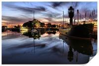 Hull Marina at Dusk, Print