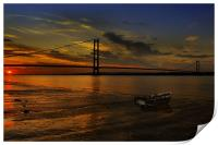 Humber Bridge Sunset 2012, Print