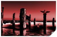 Burgandy Beach, Print