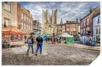 Lincoln Market and Cathedral, Print