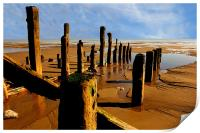 east coast beach, Print