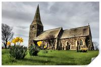 all saints parish church of mappleton, Print