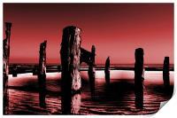burgundy sands, Print