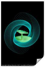 Spirograph Water Droplet, Print