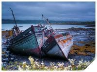 Boat Wrecks On Mull, Print