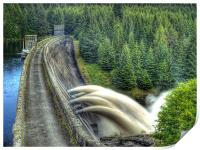Summer Rain On Laggan Dam., Print