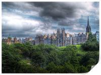 Edinburgh Skyline, Print
