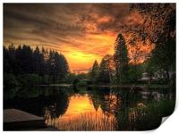 Golden Light On Loch Ard, Print