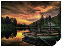 Spring Sunset Loch Ard, Print