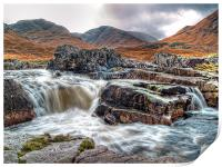 Waterfall On The River Etive, Print