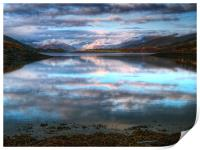 Morning Reflections On Loch Leven, Print