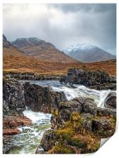 Winter Over The River Etive, Print