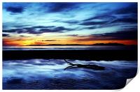 Troon Beach, Reflections, Print