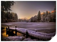 Loch Ard, Winter Sunset, Print