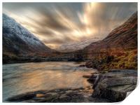 Dusk On The River Etive., Print