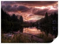 Loch Ard, Summer Glow, Print