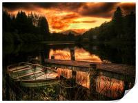 Loch Ard, Scotland, Print