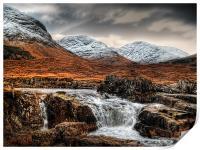 Glen Etive Waterfall, Print