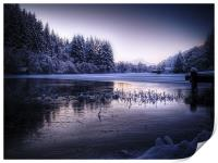 Loch Ard, Frozen In Time., Print